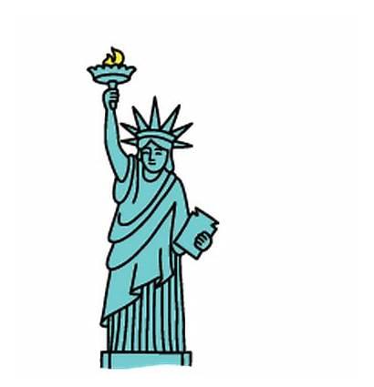 Liberty Statue Clipart Landmarks Clip Cliparts Kid