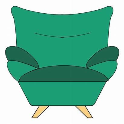Sofa Cartoon Armchair Chair Transparent Svg Vector