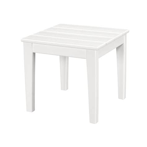 polywood newport 18 in square plastic outdoor side table