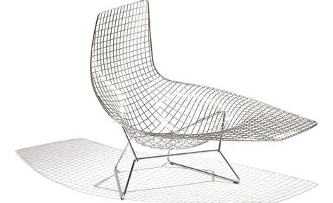 chaise bertoia blanche bertoia asymmetric chaise lounge hivemodern com