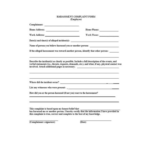 sle complaint letter to human resources about manager work harassment complaint letter poemsrom co 23200