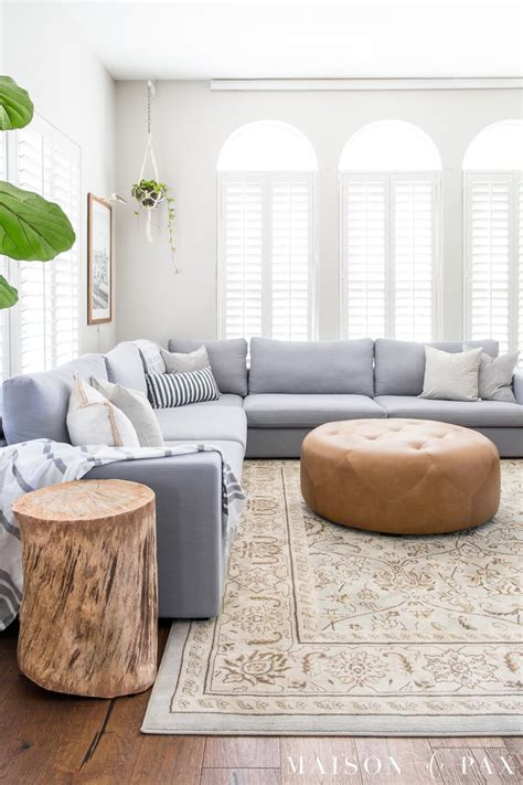 decorate  living room   sectional maison de pax