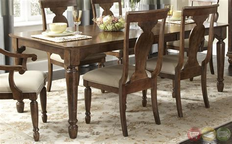 Rustic Dining Set by Rustic Cherry Rectangular Table Formal Dining Room Set