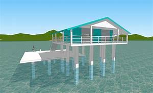 tuto sketchup l39architecture la maison sur pilotis With plan de maison sur pilotis