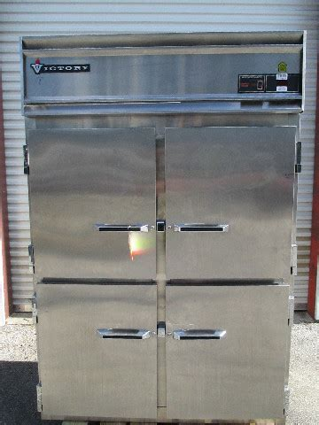 victory stainless steel full size solid   door reach  refrigerator cooler