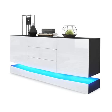 sideboard mit led sideboard city mit sockel und led beleuchtung