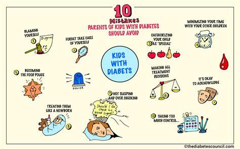 mistakes parents  kids  diabetes  avoid