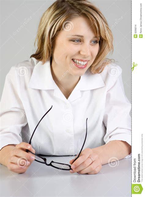 bureau femme femme au bureau images stock image 5299214