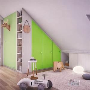 Dressing Chambre Enfant : le placard sous pente trouvez une inspiration ~ Teatrodelosmanantiales.com Idées de Décoration