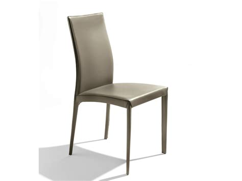 chaises casa chaise rembourrée en cuir tannée kefir by bontempi casa