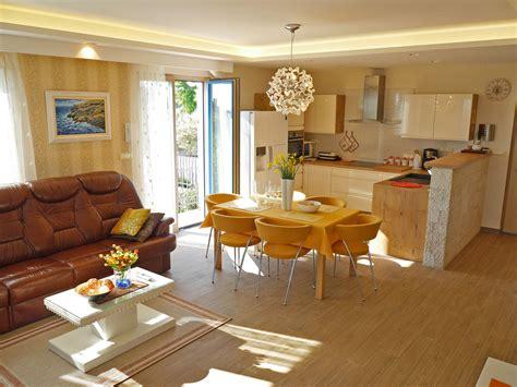 küche esszimmer wohnzimmer in einem raum villa with wonderful sea view faž firma obrt za