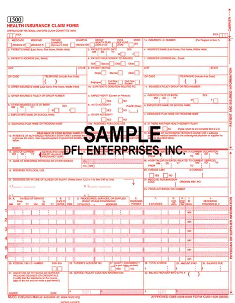 Celebrity Gossips And Images Hcfa 1500 Claim Form