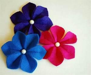 Make itself felt flowers – creative craft ideas Felt