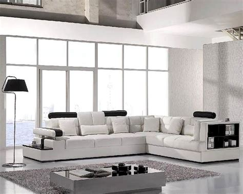 Modern White Leather Sofas by Modern White Leather Sectional Sofa Set 44lt117