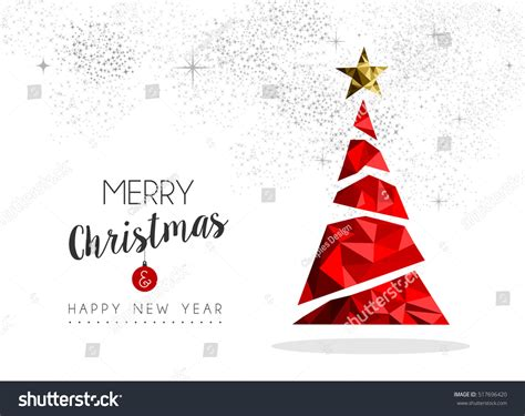 Seeking for free merry christmas png images? Merry Christmas Happy New Year Red Stock Vector 517696420 ...