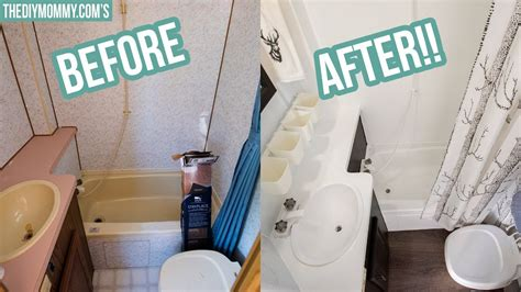rv bathroom makeover   budget youtube