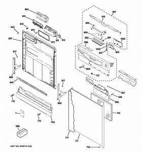 Ge Gld2850t10cs Dishwasher Parts