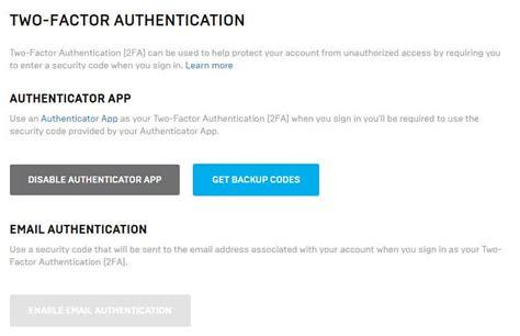 enable  factor authentication  epic games