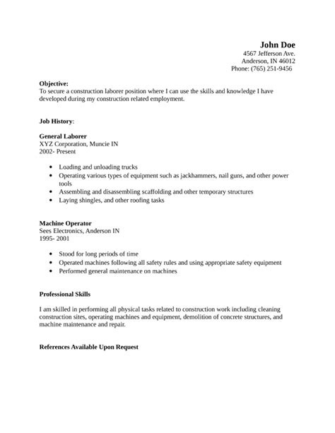 laborer resume haadyaooverbayresort
