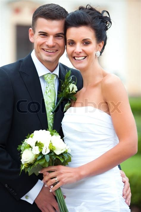 young couple  married stock photo colourbox