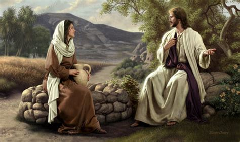 Image result for images of jesus and the samaritan woman at the well