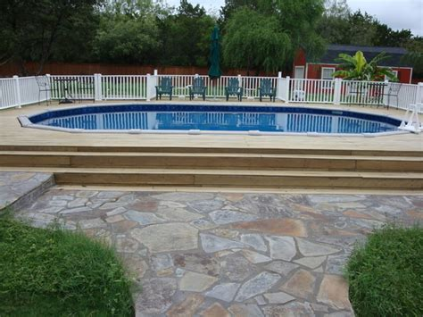 above ground swimming pool deck pictures oval above ground pool with deck traditional pool