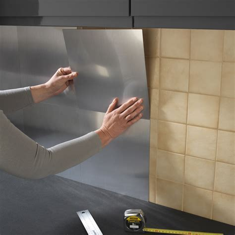 revetement mural cuisine adhesif 10 plaque inox cuisine
