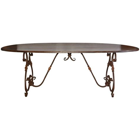 dining table bases for sale french inspired metal base oval dining table for sale at