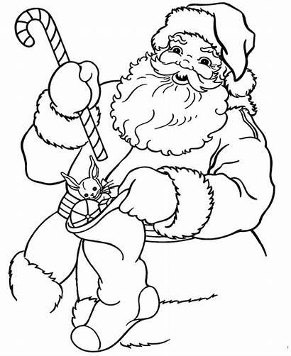 Santa Coloring Pages Printable Christmas Sheets Claus
