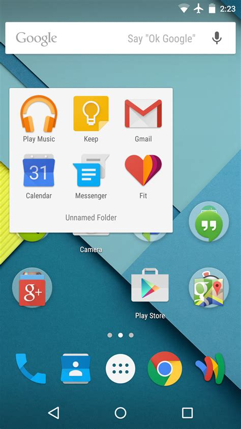 leaked android  lollipop apps
