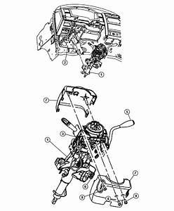 2006 Dodge Dakota Lever  Gearshift  Steering  Column  Tilt