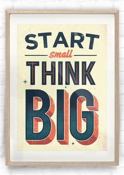 affiche bureau poster start small think big pour startup kollori com