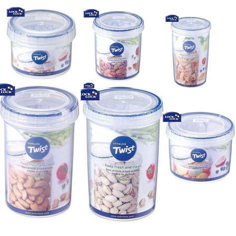 Lock & Lock Round Twist Lid Food Storage Plastic 100%