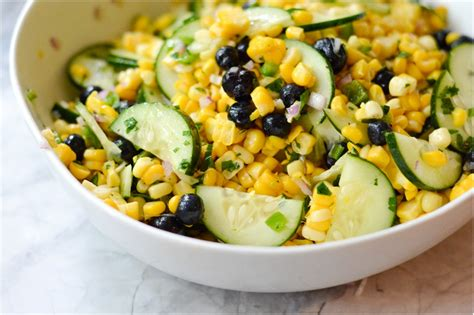 corn and blueberry salad blueberry corn salad a healthy life for me