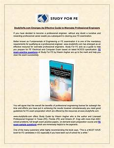 Fe Exam Practice Questions At Study For Fe By Wasim Asghar