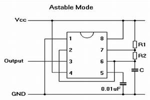 555 Timer In Astable Mode