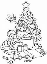 Coloring Tree Christmas Pages Print sketch template