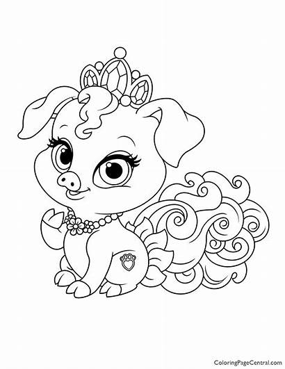 Coloring Palace Pets Truffles Summer Olaf