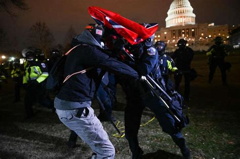 Shocking photos show pro-Trump rioters swarming US Capitol