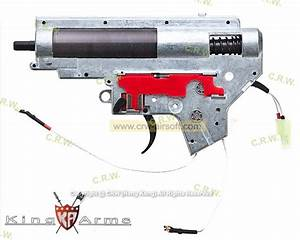 King Arms M135 Ver  Ii Rear Wiring Complete Gearbox For M16a2 Aeg