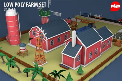 poly farm set  model cgstudio