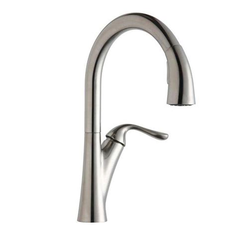 elkay faucets kitchen elkay single handle pull sprayer kitchen