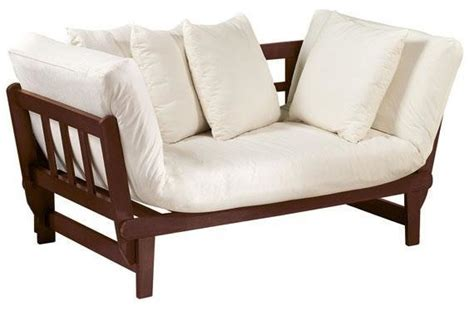 mission style convertible lounge chestnut ivory