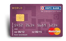 That's the address you provided on your application, unless you've since moved and updated your information. World MasterCard Credit Card: Exclusive International Credit Card | HDFC Bank