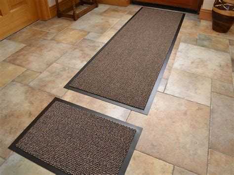 dark beige  slip kitchen runner rug door mat set