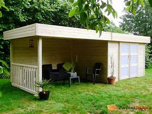 Abri De Jardin Ouvert : abri de jardin en bois toit plat arhus 15 78m sur ~ Premium-room.com Idées de Décoration