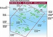 map of Broken Group Islands | Ucluelet, Island, Kayaking