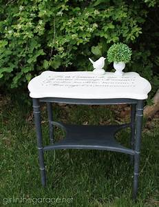 french love letter table makeover girl in the garager With love letter table for sale