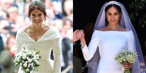 Princess Eugenie's Royal Wedding Dress Compared To Meghan