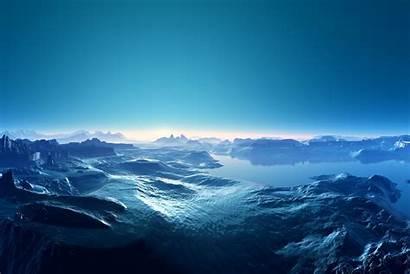 Ocean Landscapes Moon Mountains Clouds Backgrounds Landscape